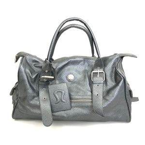 Lululemon Podium Metallic Silver Gym Bag